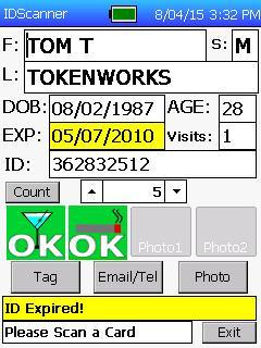 IDVisor Pro Age OK, ID Expired