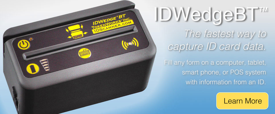 IDWedgeBT Data Entry ID Scanner