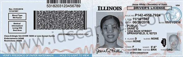New Illinois Driver S License To Feature Portrait Of