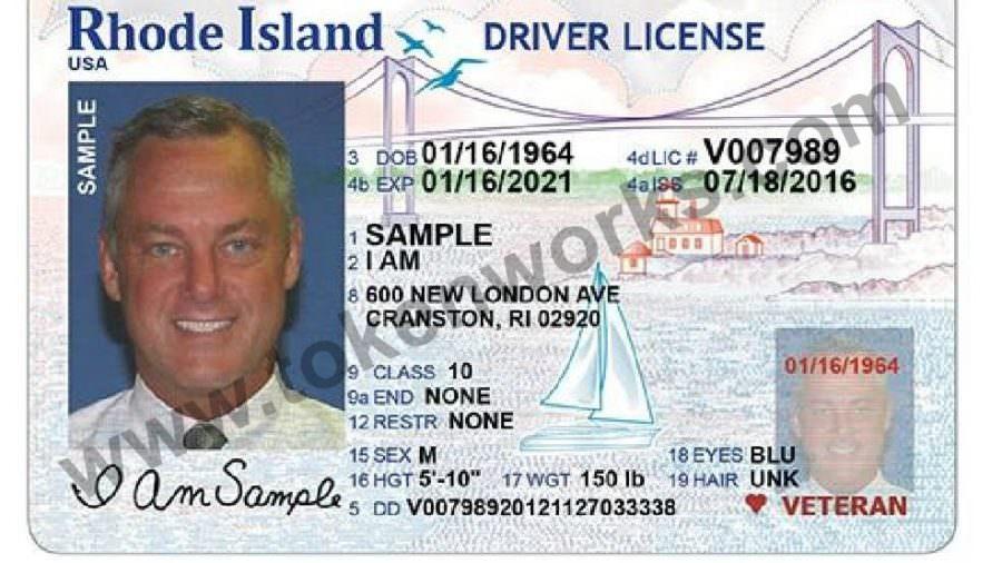 New Rhode Island driver's license design